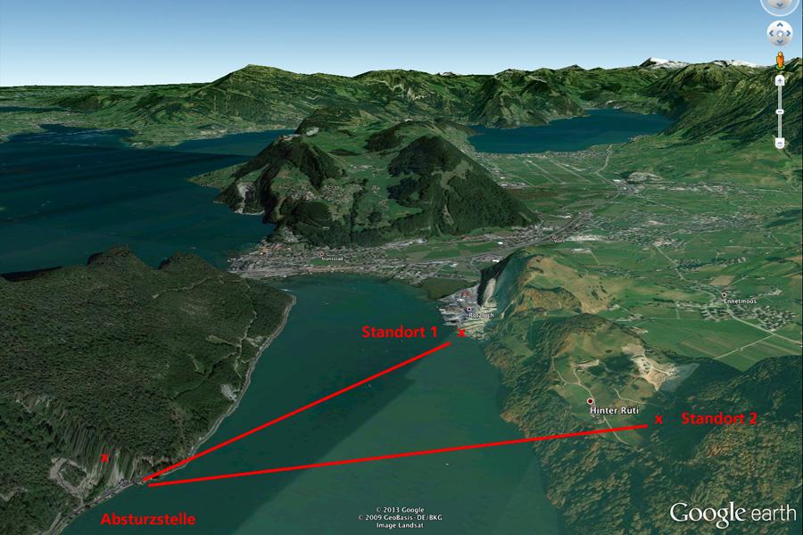 Google Earth Übersicht.