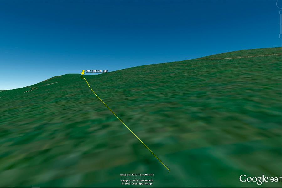 Rekognoszierung in Google Earth.