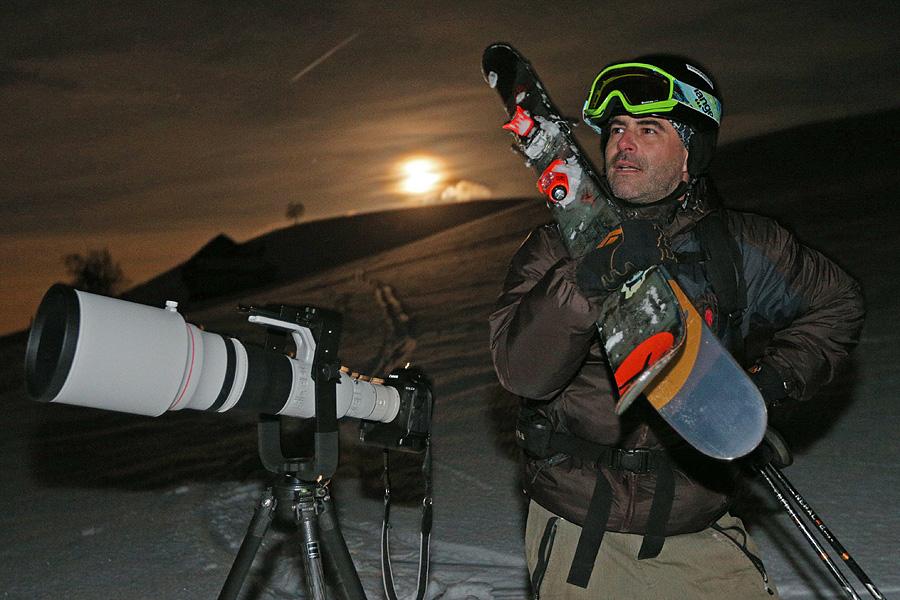 Fotograf Roger Grütter ausnahmsweise als Model vor der Kamera.