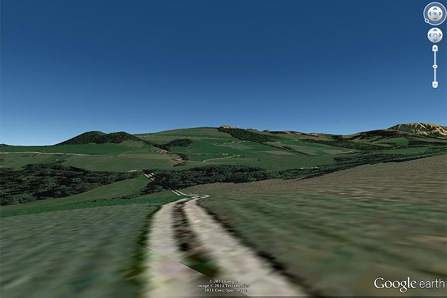 Stundenlanges Suchen und Rekognoszieren am Computer in Google Earth nach dem passenden Standort.
