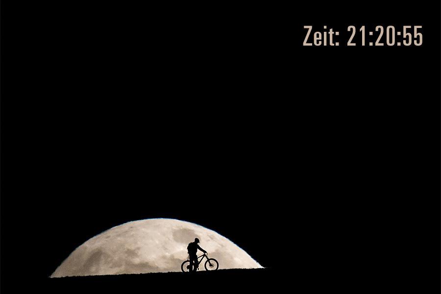 Mondaufgang um 21:20.