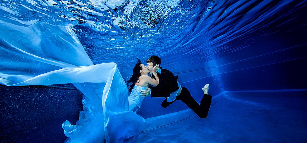 Unterwasser Hochzeit, underwater wedding photo photography